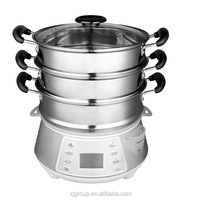 XJ-7K118 steel version 11.5L 60 minutes timers, 3 layers 800w Stainless steel steamer