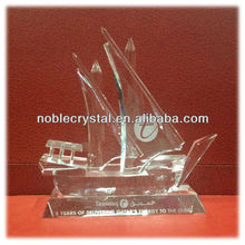 Noble Customized Made Islamic Ramadan Gift Crystal Arab Dhow With Logo and Text Engraved Free