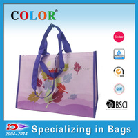 2015 factory price colorful laminated 100% recycled pp non woven shopping bag