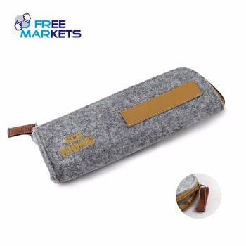 Cheap reusable PET felt pen pencil box case