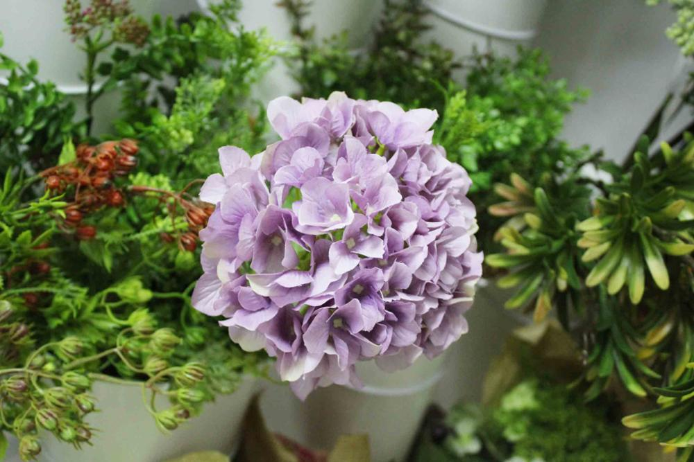 SFB43001 China wholesale cheap hydrangea artificial flower decorative artifical flower