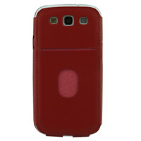 With pocket korean style leather case for galaxy s3