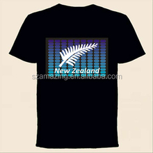 New Zealand custom design el equalizer t-shirt panel