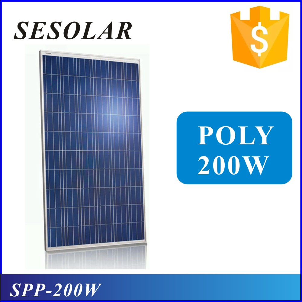 Ce Approved 200w Poly Solar Panel With Production Line solar cell