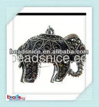 Beadsnice ID 27125 Sterling silver marcasite elephant Pendant bali sliver flower of life pendant