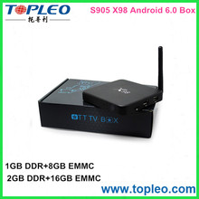 Customized logo Amlogic S905 Quad Core 2GB RAM +16gb ROM X98 quad core tv box x98 kodi