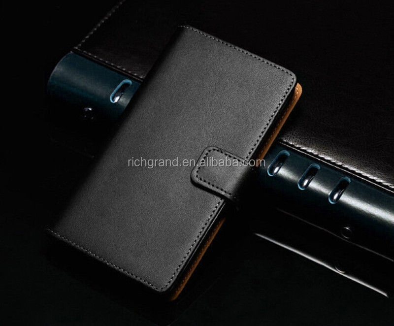 Luxury mobile phone flip wallet leather case cover pouch for LG G2