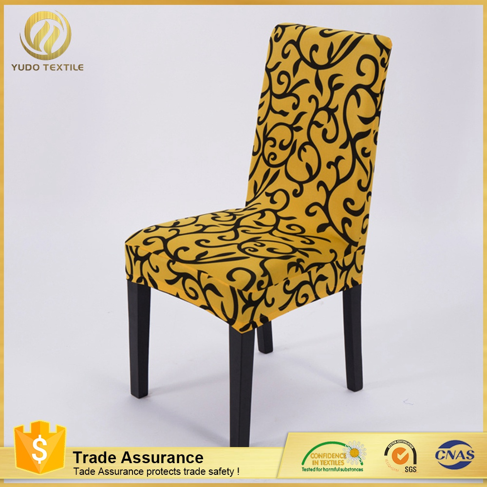 good quality hotel chair cover Solid Color fancy chair cover