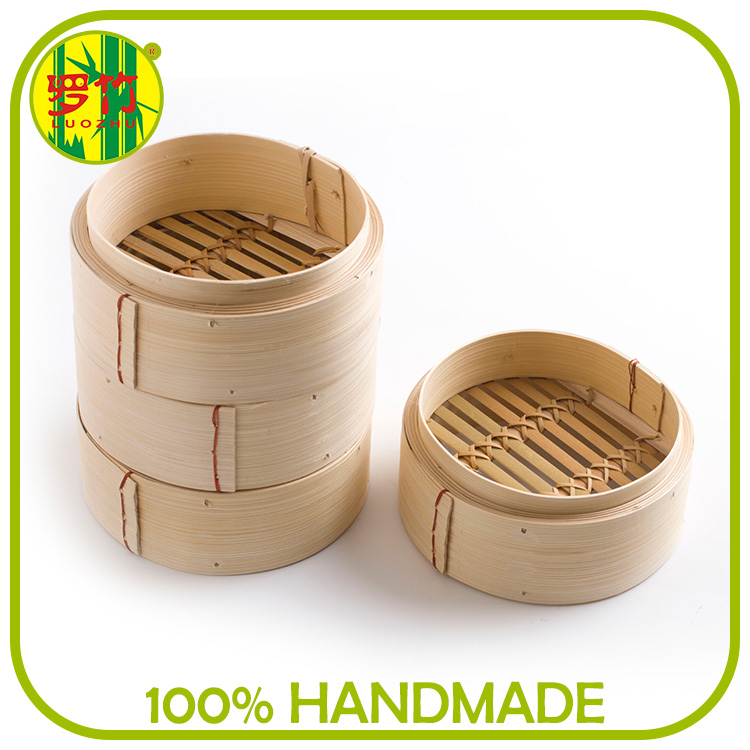 Durable usage alumnium ring bamboo steamer basket