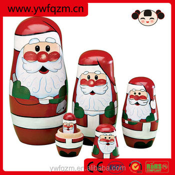 Hot Sale 2014 High Quality Christmas Decoration nesting dolls
