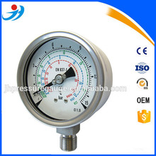 All stainless steel air compressors Refrigeration Pressure Meter Low Pressure Gauge