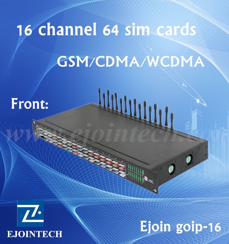 ejointech 16 ports android voip wcdma gateway for telephone mobile ip phone free registration