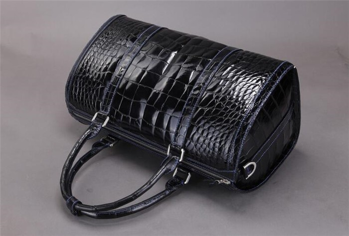 New Arrival OEM High End Luxury Genuine Crocodile Leather Duffle Bag for Men Travel Bag _8