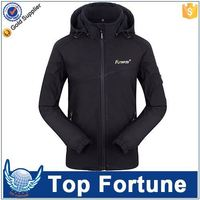 customize logo plain waterproof men's branded softshell jacket
