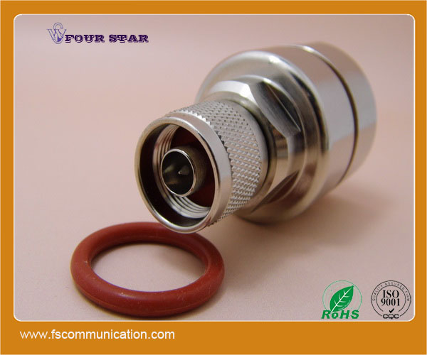 n male rf coaxial connector for 7/8 inch foam feeder cable