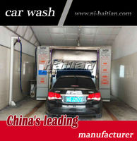 Soft brushes automatic car wash machine, wheel brushes imported from Italy