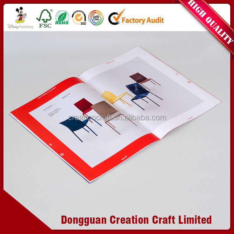 Classical Design paper brochure / pamphlet supplier with non-toxic ink