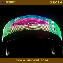 Large outdoor commercial advertising flexible P25 Led display screen