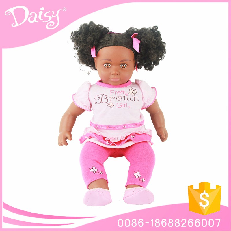 OEM making 16 inch american girl toy vinyl realistic lovely black fat baby doll
