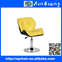anji furniture general use swivel leather bar chairs with chromed base