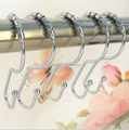 Ride Metal Shower Curtain Rings, Set of 12