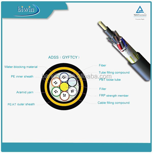36 Core Single Mode 200m Span ADSS Fiber Optic Cable