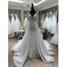 Latest Wedding Gown Designs Lace long sleeve wedding dress bridal gown