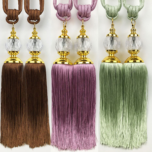 Factory price very cheap acrylic decorative curtain tassel