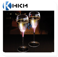 Liquid Activated Flashing Champagne Flutes 3.7oz / 110ml led Champagne glass for bar, event,parties