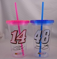24 oz 16 oz Single wall tumbler with straw Single wall cup