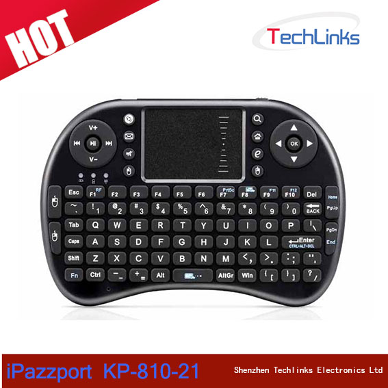 iPazzport 2.4G Mini Wireless Keyboard With Remote Control Touchpad For Android Smart TV Google
