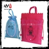 High Quality cotton shopping bag, cut out handle non woven bag, customized foldable shopping bag