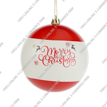 Factory price exquisite slippy ball hanging decoration, light reflecting pattern printed christmas multicolor ball