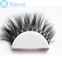 Custom faux Mink Eye Lashes Private Label False Eyelashes Strip With Own Logo Strip Lash Box