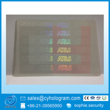 Clear Transparent Hologram Overlay Sticker for ID Card