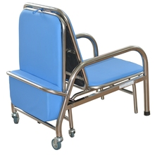 RP-004B Hospital Folding Stainless Steel Nursing Chair Bed