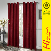 NBHS BSCI certification faux suede curtain design for living room,office window curtain