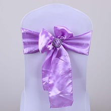 high quality wedding stain chair sash without tie lilac colour