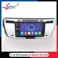 8 Inch Car DVD With GPS Navigation/SWC/Radio/RDS/IPOD For Honda Accord 9 2014