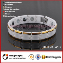 Wholesale Ceramic Tungsten Infrared Ray health care Bio Energy Positive X Power Bracelet Ideal Gift for Men