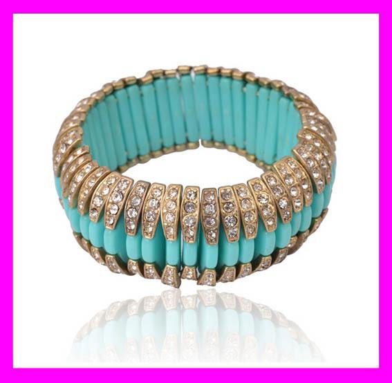 New fashion hot selling ladies jewelry crystal plastic bangles HD1487