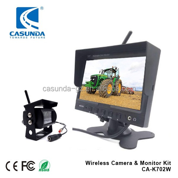 7inch Monitor Truck wireless reversing camera System with 2.4 GHz in-built Digital monitor