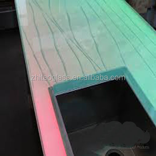 Luxury led-lit glass countertops laminate countertop bar top