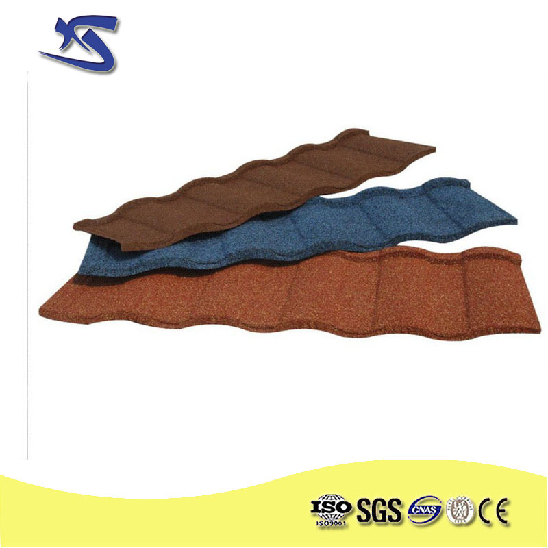 sancidalo high quality Natural Colorful stone coated metal roofing materials,Roofing