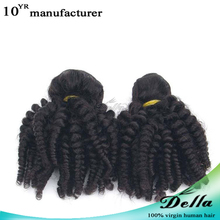 7A 8a Mongolian 3 Bundles Afro Kinky Curly Human Hair Extensions Weft Virgin hair