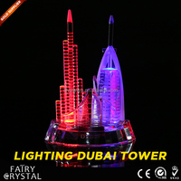 Crystal Burj Dubai Model With Light