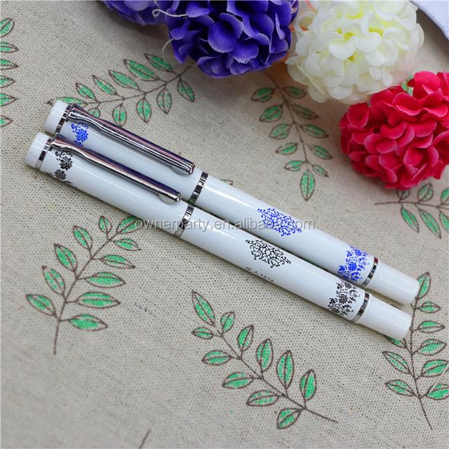 Wholesale Customized Logo Blue and white Porcelain Metal Pen