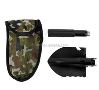 Military Folding Shovel,Trench Shovel Survival Steel Spade For Camping, Hiking or Home Gardening