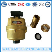 """1/2--3/4"" kent type water meter of R160,volumetric rotary piston water flowmeter"