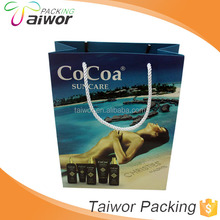 Hot Sale Customized sunblock packing bag sunscreen paper bag